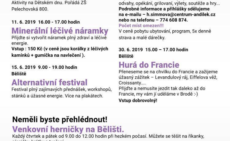 Program na měsíc Červen